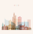 brno skyline detailed silhouette transparent vector image vector image