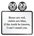 Cannot stand you Poem vector image vector image