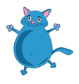 cheery blue cat vector image vector image