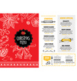 christmas party invitation restaurant food flyer vector image vector image
