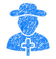cleric grunge icon vector image vector image