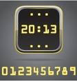 Clock digital icon detailed vector image