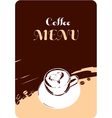 coffee menu template design vector image vector image