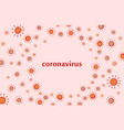 coronavirus 2019-ncov background vector image