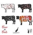 Cow cuts vector image vector image