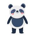 cute little panda cartoon character on white vector image