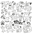 Dogs doodles vector image vector image