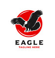 eagle and circle logo design template vector image vector image
