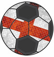 english flag with soccer ball background vector image