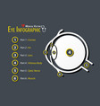 eye infographic flat design vector image