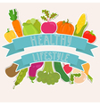 Farm fresh vegetables healthy lifestyle vector image