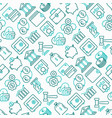 Finance seamless pattern with thin line icons