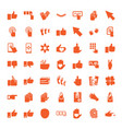 finger icons vector image vector image