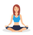 fitness girl does yoga training sitting in half vector image vector image