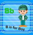 flashcard letter b is for boy vector image vector image