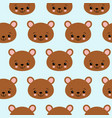 fun seamless pattern texture design bears for vector image vector image