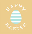 happy easter background with stylish font vector image