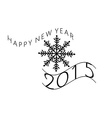 Happy new year message vector image vector image
