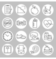 Healthy lifestyle and diet of modern linear icons vector image vector image