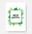 hello summer poster with space for text summer vector image vector image