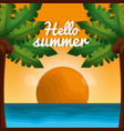 hello summer vacations vector image