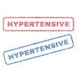 hypertensive textile stamps vector image