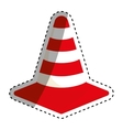 Isolated construction cone vector image vector image