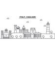 italy cagliari architecture line skyline vector image