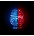 Java developer concept vector image