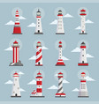 lighthouses with clouds flat vector image vector image