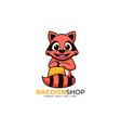 logo beaver simple mascot style vector image