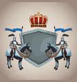 medieval army emblem vector image