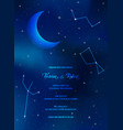 night sky trendy wedding invitation card vector image vector image