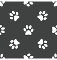 Paw pattern vector image vector image