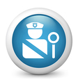 Police glossy icon vector image vector image