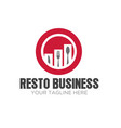 restaurant business logo designs modern vector image