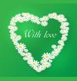 romantic chamomile vector image
