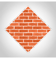 Romb made of bricks vector | Price: 1 Credit (USD $1)