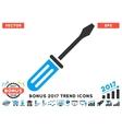 Screwdriver Flat Icon With 2017 Bonus Trend vector image vector image