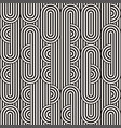 Seamless monochrome waving pattern abstract