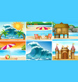 set beach landscape vector image