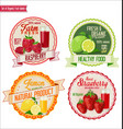 set of organic fruit labels 5 vector image vector image