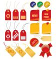 set price tags vector image