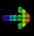 spectral colored dotted right arrow icon vector image vector image