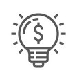 startup idea line icon vector image vector image