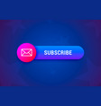 subscribe button banner with envelope icon in vector image vector image