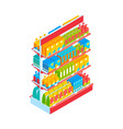 supermarket shelf vector image vector image