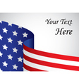 usa banner with copy space vector image vector image