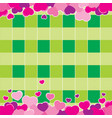 valentine green background design vector image vector image