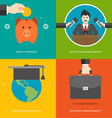 Website Promotion Banners Templates and Flat Icons vector image vector image